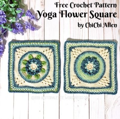 Free Crochet Pattern Yoga Flower Square