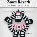 Free Crochet Pattern Zebra Wreath