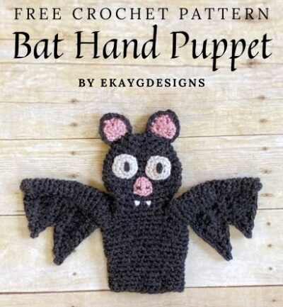 Free Crochet Pattern Bat Hand Puppet