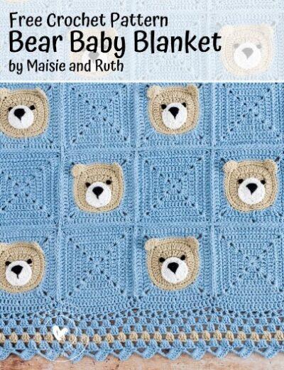 Free Crochet Pattern Bear Baby Blanket