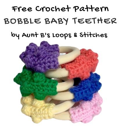 Free Crochet Pattern Bobble Baby Teether