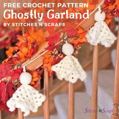 Free Crochet Pattern Ghostly Garland