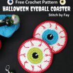 Free Crochet Pattern Halloween Eyeball Coaster