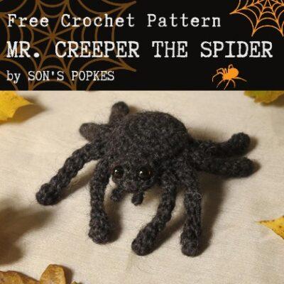 Free Crochet Pattern Mr Creeper the Spider