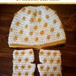 Free Crochet Pattern Polka Dot Hat and Gloves