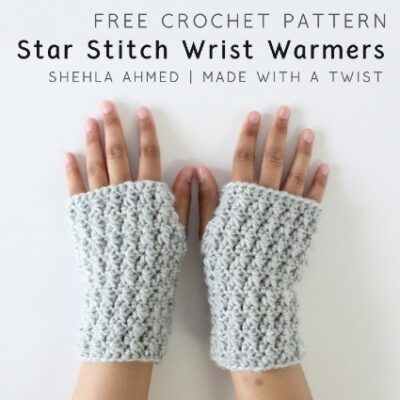 Free Crochet Pattern Star Stitch Wrist Warmers