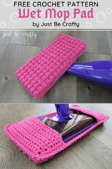 Free Crochet Pattern Wet Mop Pad